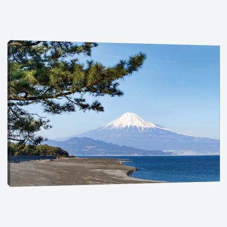 Mount Fuji Seen From Miho No Matsubara Beach, Shizuoka, Japan Canvas Print #JNB1609} by Jan Becke Canvas Artwork