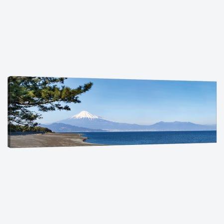 Panoramic View Of Miho No Matsubara Beach And Mount Fuji, Shizuoka, Japan Canvas Print #JNB1611} by Jan Becke Canvas Print