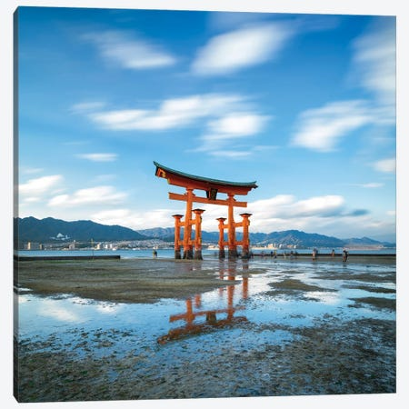 Torii Gate Of The Itsukushima Shrine On Miyajima Island, Japan Canvas Print #JNB1614} by Jan Becke Canvas Wall Art