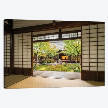 Traditional Japanese Tatami Room At The Kennin-Ji Temple, Gion, Kyoto Canvas Print #JNB1627} by Jan Becke Canvas Print