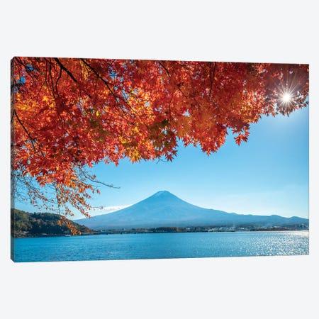 Mount Fuji At Lake Kawaguchiko In Autumn Canvas Print #JNB1638} by Jan Becke Canvas Print