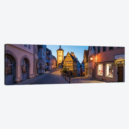 Historic Old Town Of Rothenburg Ob Der Tauber Canvas Print #JNB1653} by Jan Becke Art Print