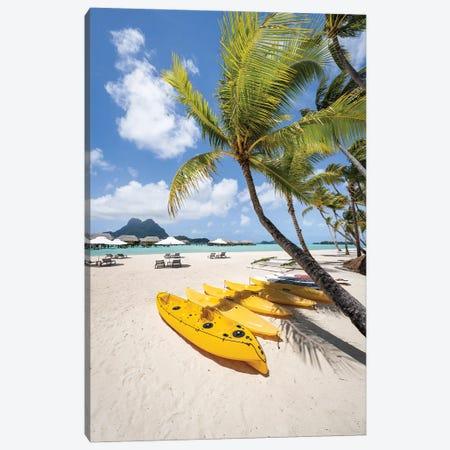 Summer Vacation On The Beach, Bora Bora, French Polynesia Canvas Print #JNB1657} by Jan Becke Canvas Artwork