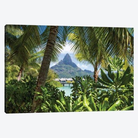 Mount Otemanu On Bora Bora, French Polynesia Canvas Print #JNB1658} by Jan Becke Canvas Art Print