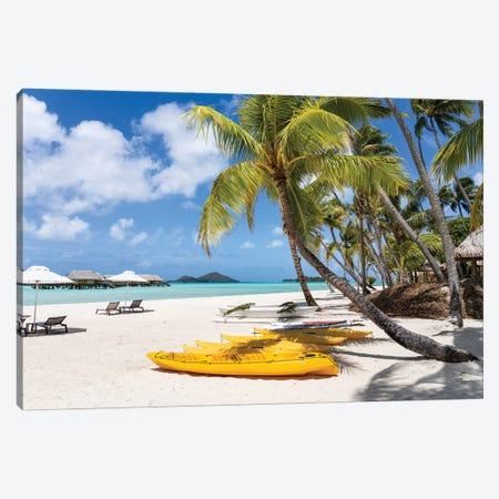 Summer Vacation On The Beach Canvas Print #JNB1659} by Jan Becke Art Print