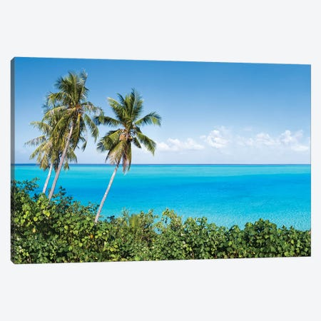 Blue Lagoon Of The Bora Bora Atoll Canvas Print #JNB165} by Jan Becke Art Print