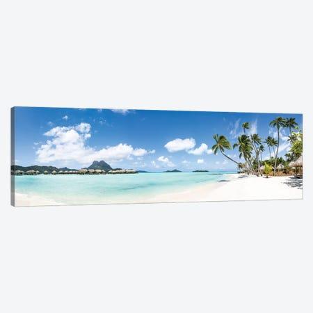 Tropical Beach Panorama On Bora Bora, French Polynesia Canvas Print #JNB1665} by Jan Becke Canvas Art Print