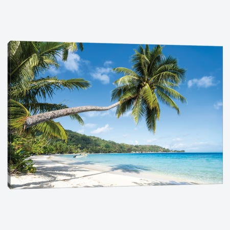 Matira Beach In Bora Bora, French Polynesia Canvas Print #JNB1671} by Jan Becke Art Print