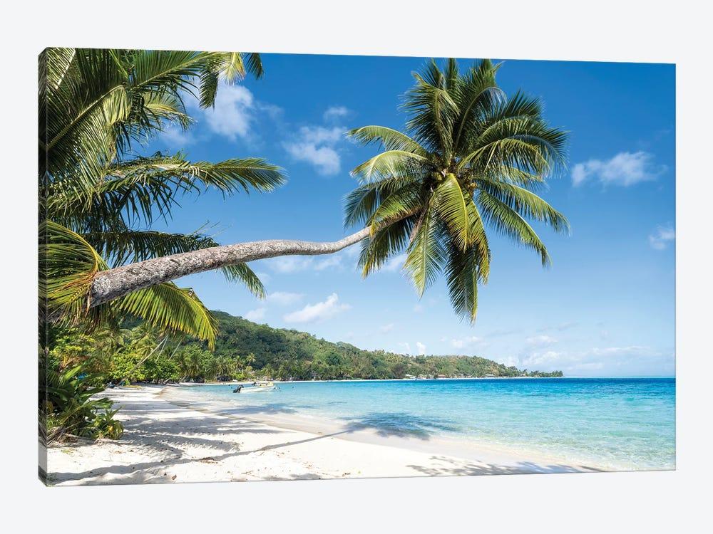 Matira Beach In Bora Bora, French Polynesia by Jan Becke 1-piece Canvas Art