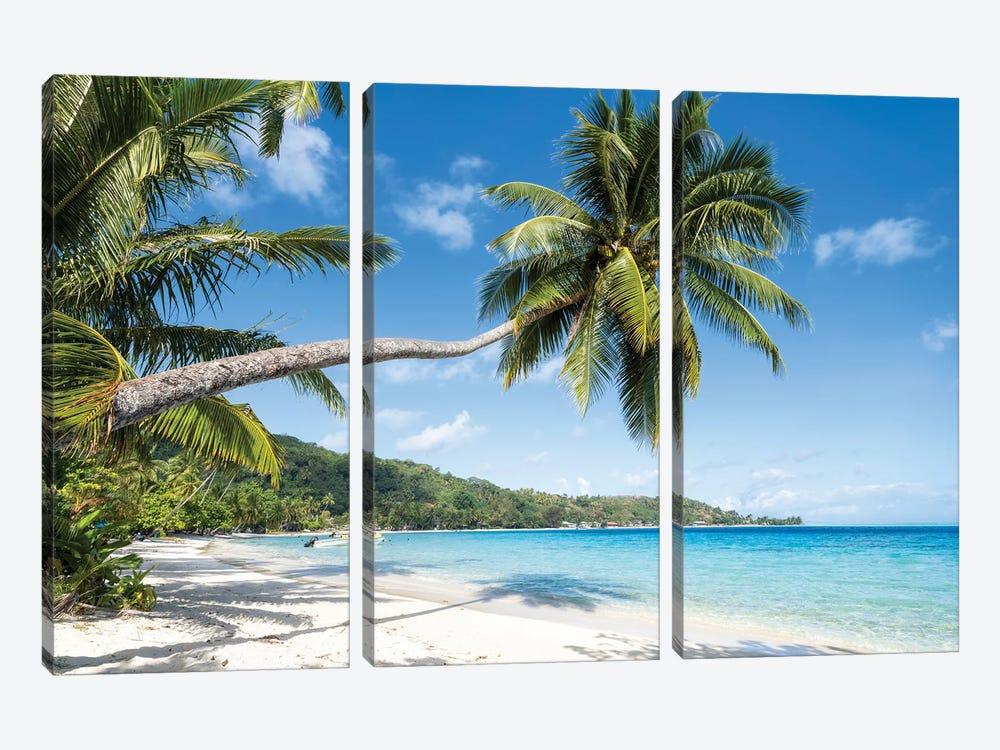 Matira Beach In Bora Bora, French Polynesia by Jan Becke 3-piece Canvas Art