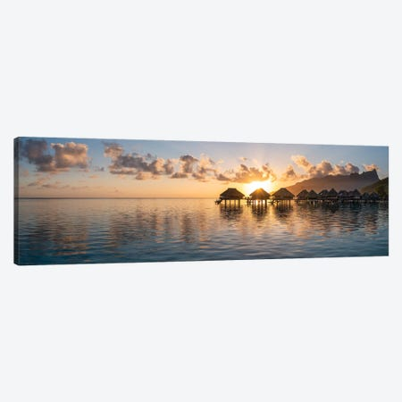 Moorea Lagoon At Sunrise, French Polynesia Canvas Print #JNB1672} by Jan Becke Canvas Art Print