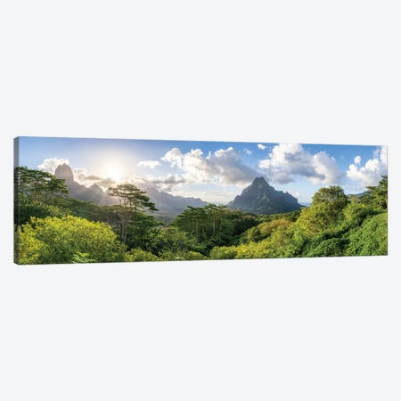 Belvedere Lookout With View Of Mount Rotui, Moorea, French Polynesia Canvas Print #JNB1675} by Jan Becke Canvas Artwork