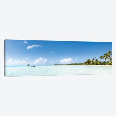 Panoramic View Of The Lagoon In Fakarava, French Polynesia Canvas Print #JNB1680} by Jan Becke Canvas Artwork
