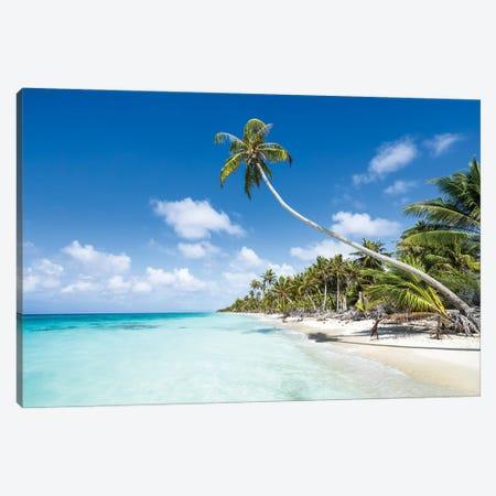 Tropical Beach On Fakarava, French Polynesia Canvas Print #JNB1690} by Jan Becke Canvas Print