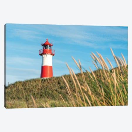 Lighthouse List Ost Along The Dune Beach, Sylt, Schleswig-Holstein, Germany Canvas Print #JNB1697} by Jan Becke Canvas Art