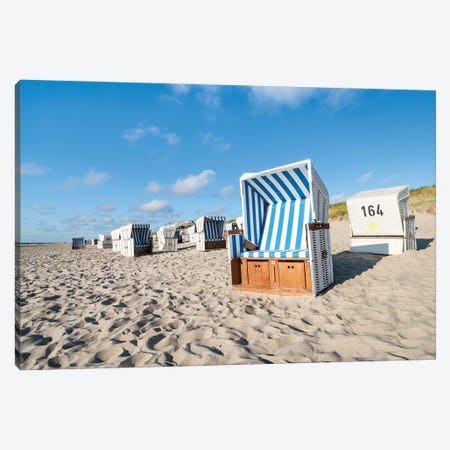 Beach Chairs On The North Sea Coast, Sylt, Schleswig-Holstein, Germany Canvas Print #JNB1708} by Jan Becke Canvas Print