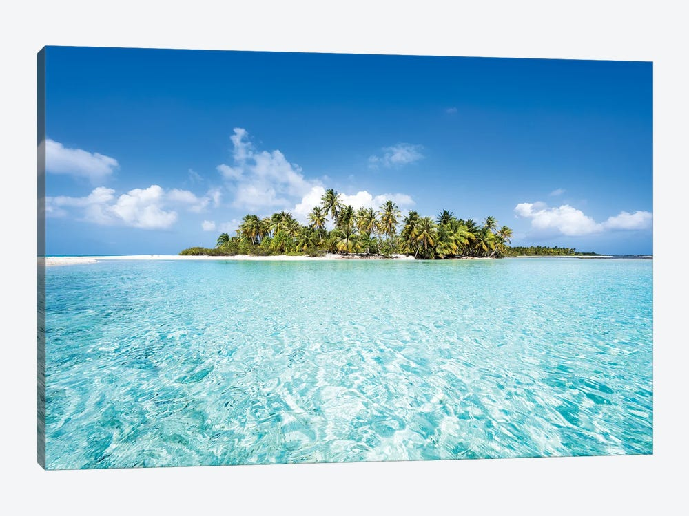 Uninhabited Tropical Island, French Polynesia by Jan Becke 1-piece Canvas Print