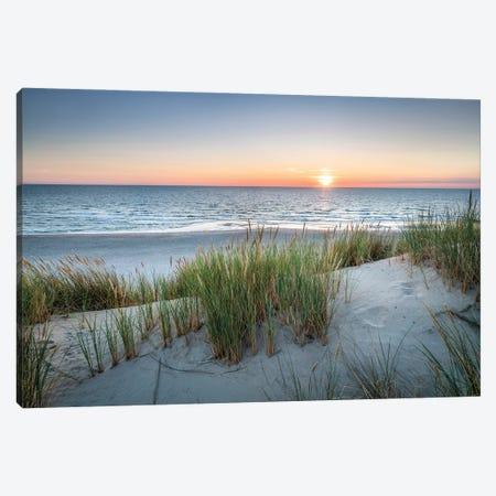 Sunset On The Dune Beach Canvas Print #JNB1717} by Jan Becke Canvas Art Print