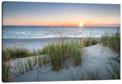 Sunset On The Dune Beach Canvas Art Print