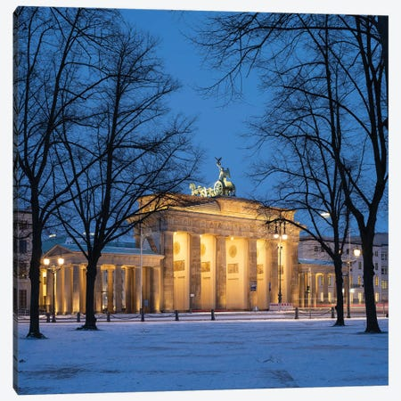 Brandenburg Gate (Brandenburger Tor) In Winter, Berlin, Germany Canvas Print #JNB1720} by Jan Becke Art Print