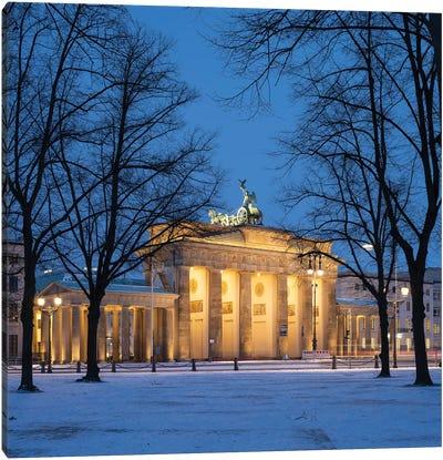Brandenburg Gate (Brandenburger Tor) In Winter, Berlin, Germany Canvas Art Print