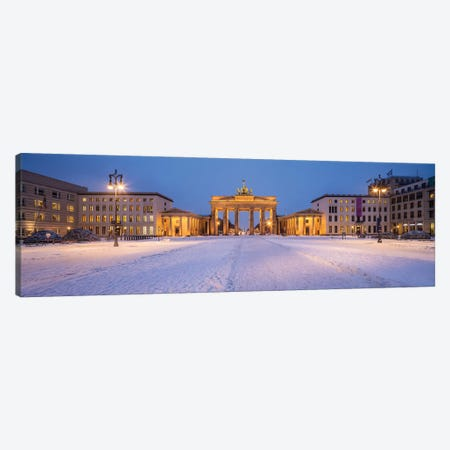 Brandenburg Gate (Brandenburger Tor) Panorama In Winter Canvas Print #JNB1722} by Jan Becke Canvas Print