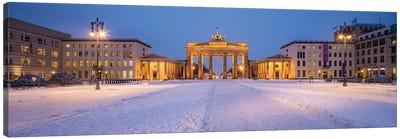 Brandenburg Gate (Brandenburger Tor) Panorama In Winter Canvas Art Print