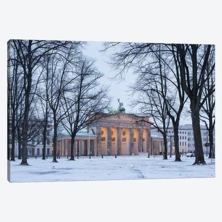 Historic Brandenburg Gate (Brandenburger Tor) In Winter Canvas Print #JNB1723} by Jan Becke Canvas Print