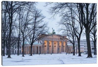 Historic Brandenburg Gate (Brandenburger Tor) In Winter Canvas Art Print