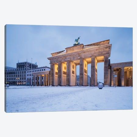 Brandenburg Gate (Brandenburger Tor) In Winter Canvas Print #JNB1725} by Jan Becke Canvas Artwork