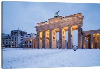 Brandenburg Gate (Brandenburger Tor) In Winter Canvas Art Print