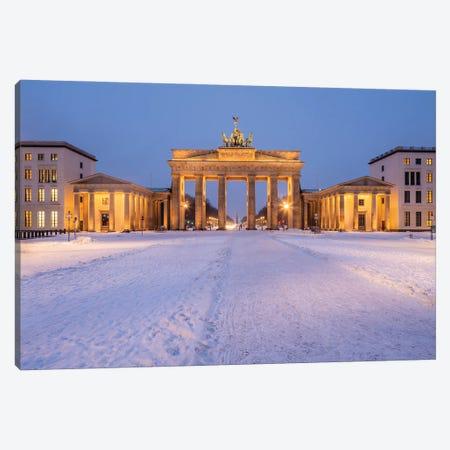 Brandenburg Gate (Brandenburger Tor) At The Pariser Platz In Winter, Berlin, Germany Canvas Print #JNB1726} by Jan Becke Canvas Art