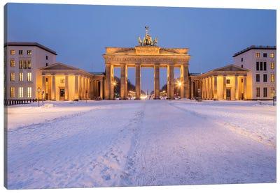 Brandenburg Gate (Brandenburger Tor) At The Pariser Platz In Winter, Berlin, Germany Canvas Art Print