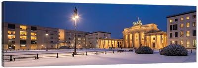 Historic Brandenburg Gate (Brandenburger Tor) In Winter, Berlin, Germany Canvas Art Print