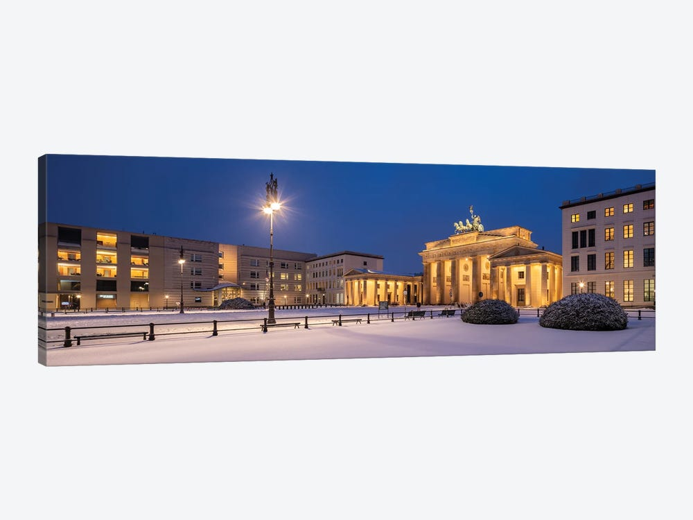 Historic Brandenburg Gate (Brandenburger Tor) In Winter, Berlin, Germany by Jan Becke 1-piece Canvas Art Print