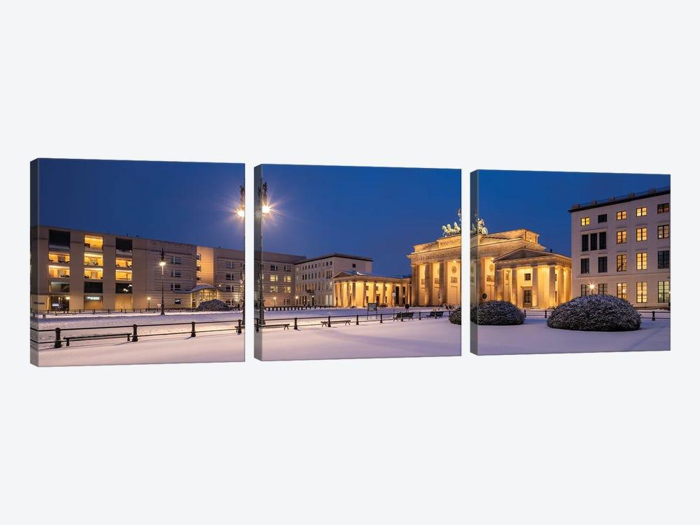 Historic Brandenburg Gate (Brandenburger Tor) In Winter, Berlin, Germany by Jan Becke 3-piece Canvas Art Print