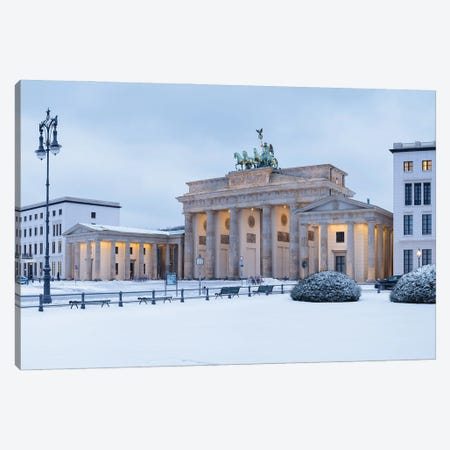 Brandenburg Gate (Brandenburger Tor) Covered In Snow, Berlin, Germany Canvas Print #JNB1729} by Jan Becke Canvas Art Print