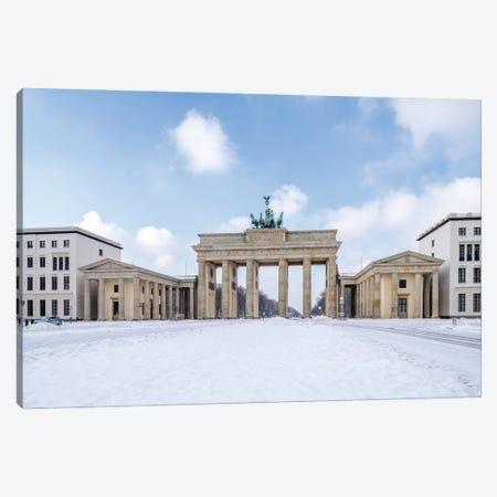 Brandenburg Gate (Brandenburger Tor) In Winter At The Pariser Platz, Berlin, Germany Canvas Print #JNB1731} by Jan Becke Canvas Artwork