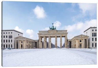 Brandenburg Gate (Brandenburger Tor) In Winter At The Pariser Platz, Berlin, Germany Canvas Art Print