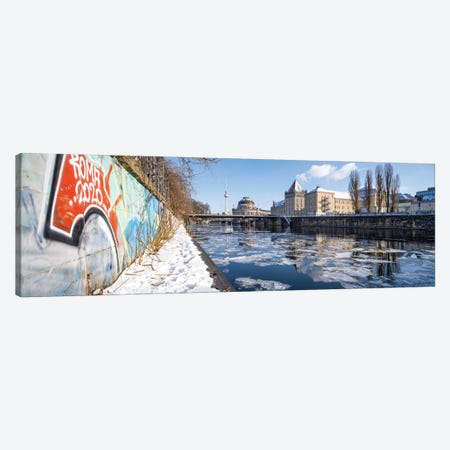 Frozen Spree River In Winter With Bode Museum And Fernsehturm Berlin (Berlin Television Tower) Canvas Print #JNB1745} by Jan Becke Canvas Wall Art