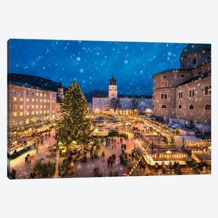 Christmas Market In Salzburg, Austria Canvas Print #JNB1749} by Jan Becke Canvas Art Print