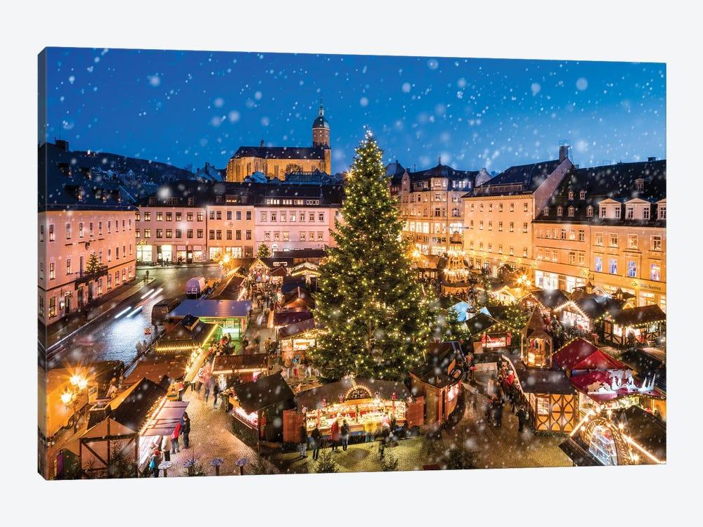 Annaberg-Buchholz Christmas Market, Saxony, Germany by Jan Becke 1-piece Canvas Art