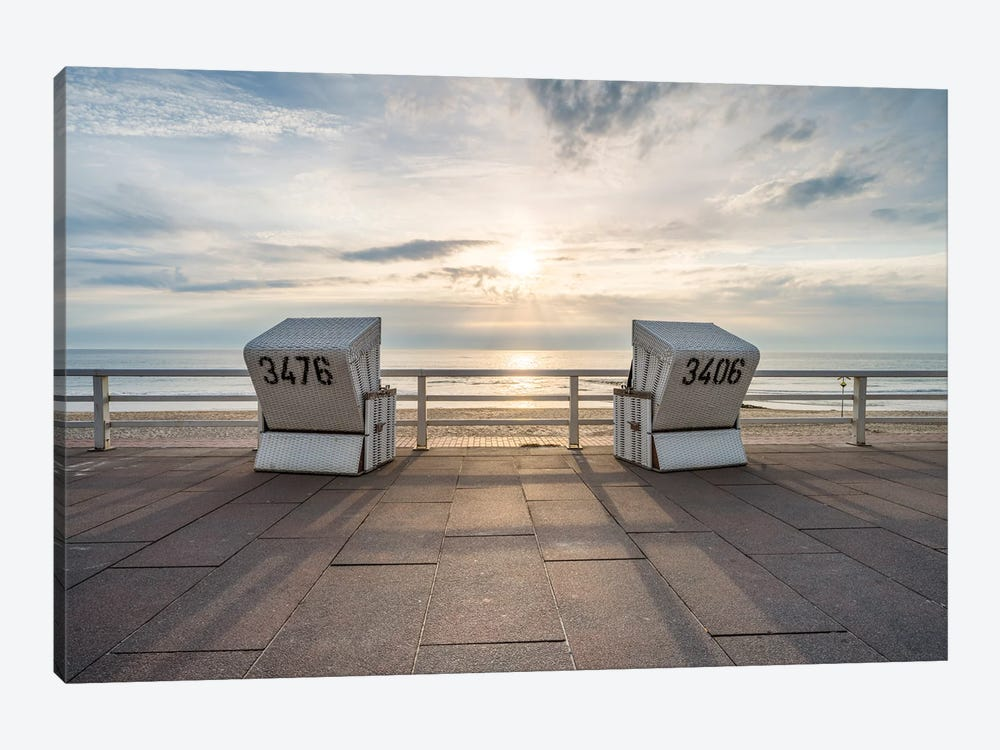 Sunset At The Weststrand Beach, Westerland, Sylt, Schleswig-Holstein, Germany by Jan Becke 1-piece Art Print