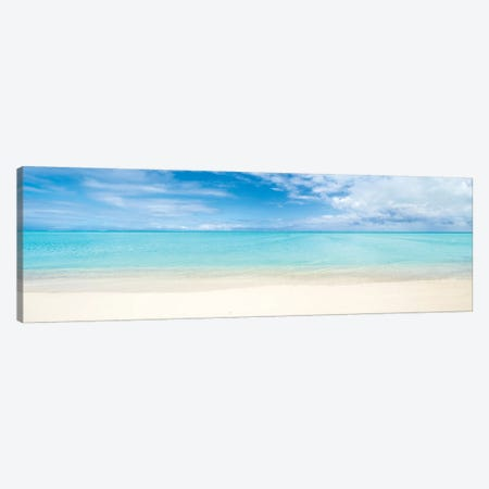 Beach Panorama On Bora Bora, French Polynesia Canvas Print #JNB177} by Jan Becke Canvas Wall Art