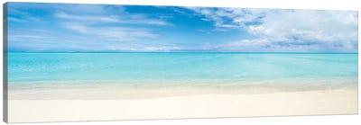 Beach Panorama On Bora Bora, French Polynesia Canvas Art Print