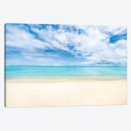 White Sandy Beach On Bora Bora Canvas Print #JNB178} by Jan Becke Canvas Art Print