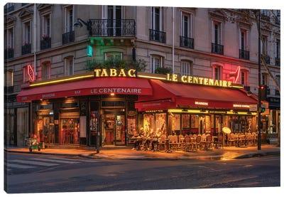 """Restaurant """"Le Centenaire"""" At The Boulevard De La Tour Marbourg Canvas Art Print"""