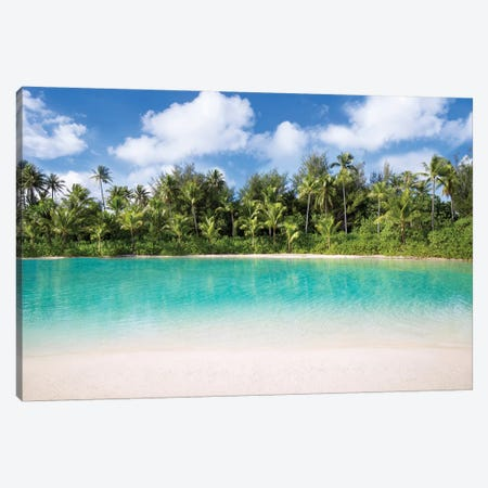 Turquoise Water Of The Lagoon On Bora Bora Canvas Print #JNB180} by Jan Becke Canvas Artwork