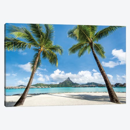 View Of Mont Otemanu, Bora Bora Atoll, French Polynesia Canvas Print #JNB181} by Jan Becke Canvas Artwork