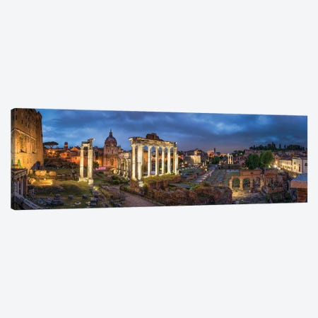 Roman Forum At Night, Rome, Italy Canvas Print #JNB1829} by Jan Becke Canvas Wall Art
